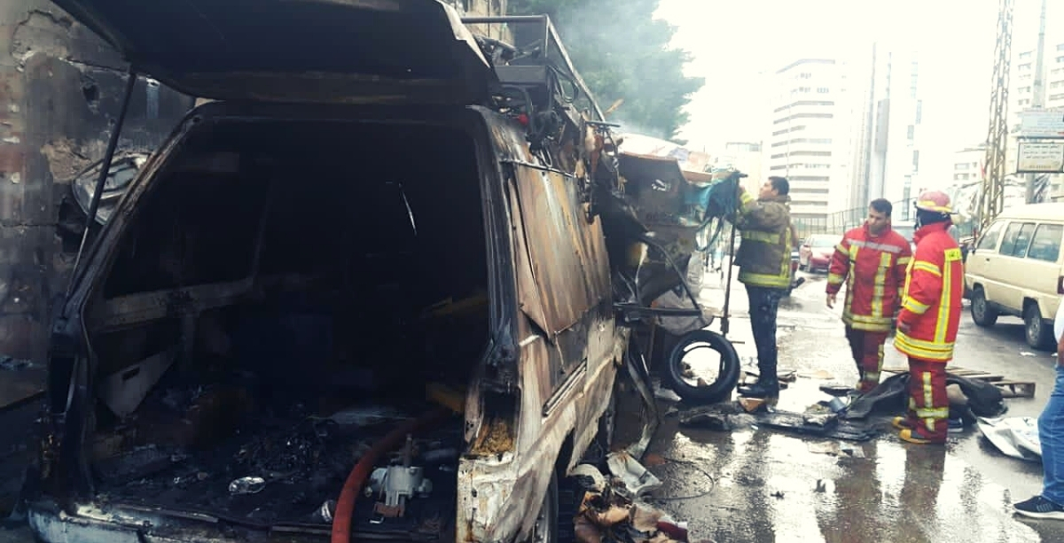 This Is What Happens When People Store Fuel In Abandoned Cars In The Middle Of Beirut