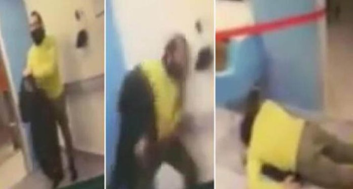 The Lebanese tourist tried to harm himself by banging his head against the walls of the hospital.