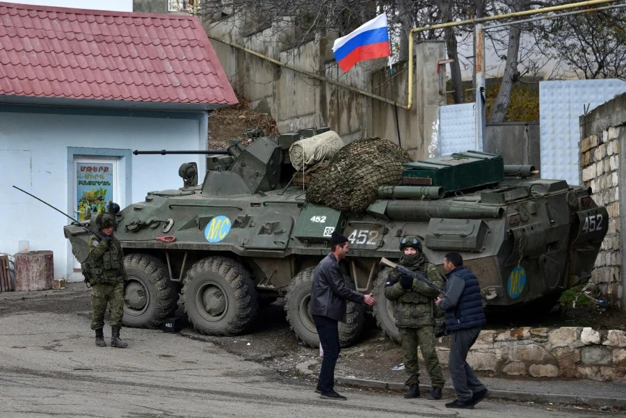 Russian peacekeeping forces have been deployed in Nagorno-Karabakh.