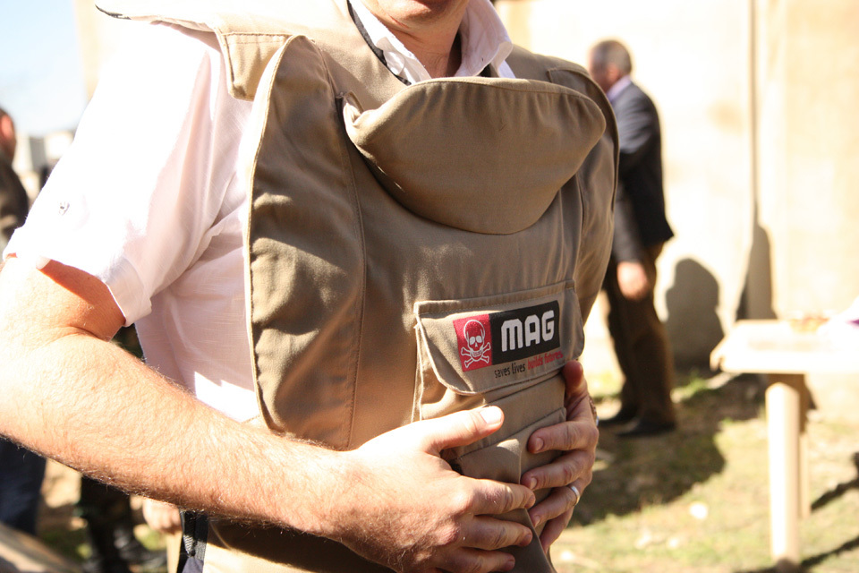 MAG is a non-governmental organization that assists people affected by landmines, cluster bombs, and other war remnants.