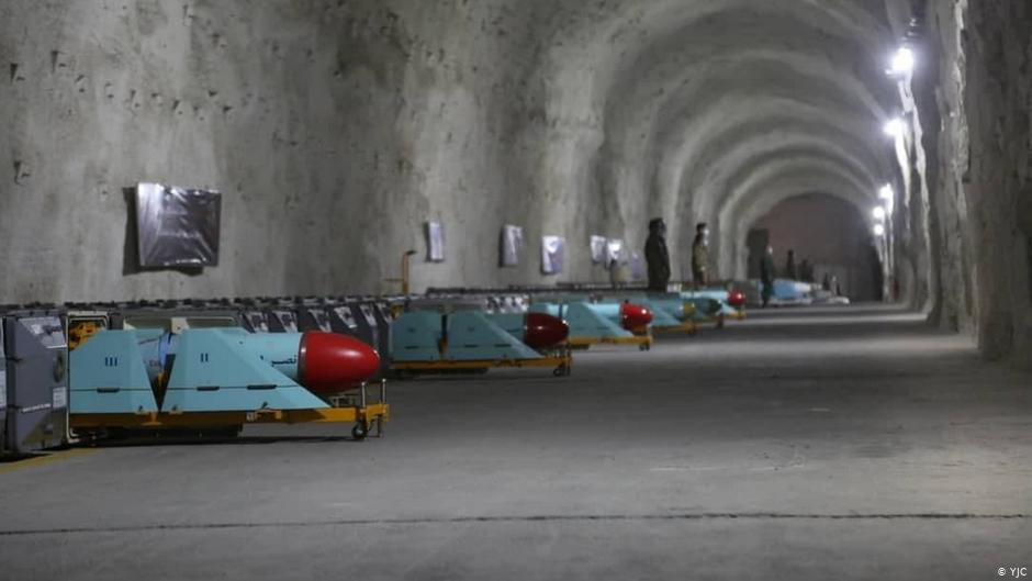 The base stores missiles, both on the ground and mounted on trucks that aligned through its long tunnel.