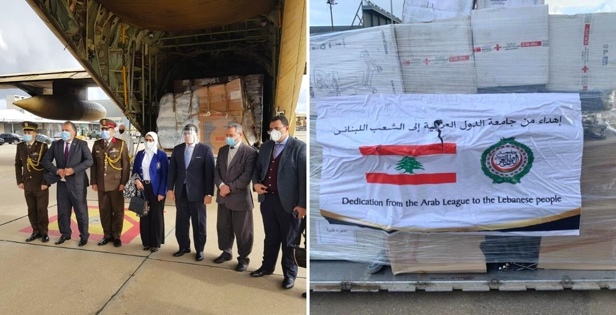 Egyptian Planes Loaded With Aid & Baby Milk Land In Beirut