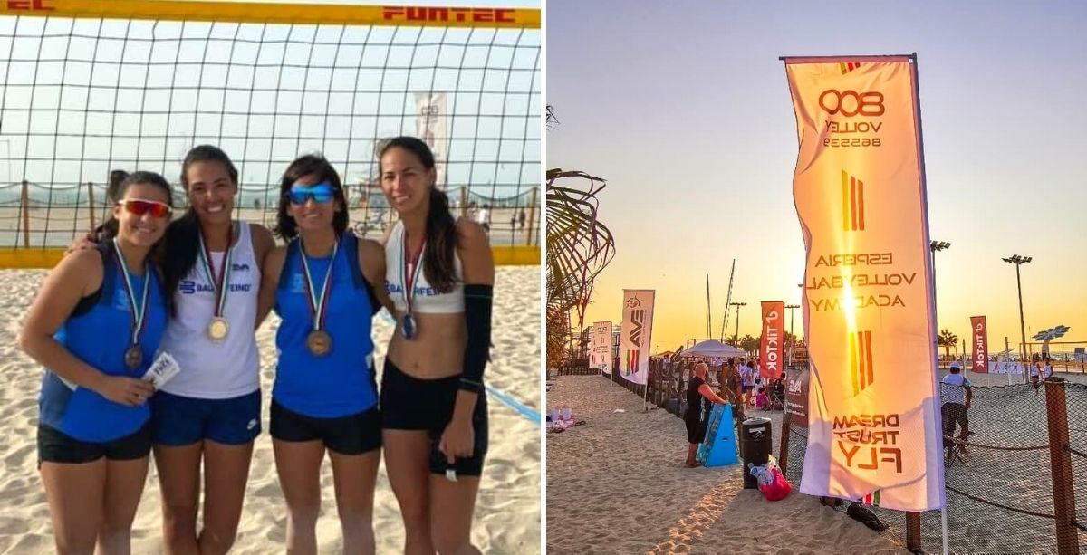 Lebanese Mother-Daughter Wins 3rd Place In Beach Volleyball Tournament