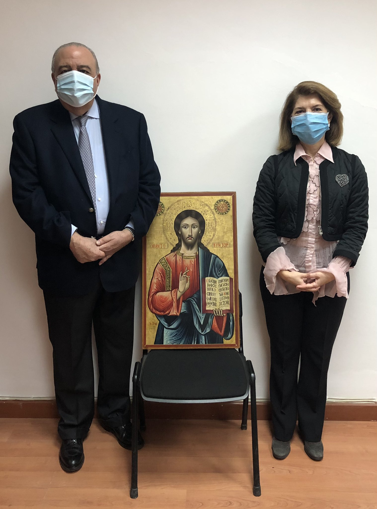 The Lebanese authorities seized the icons during an auction and returned them to Greece.