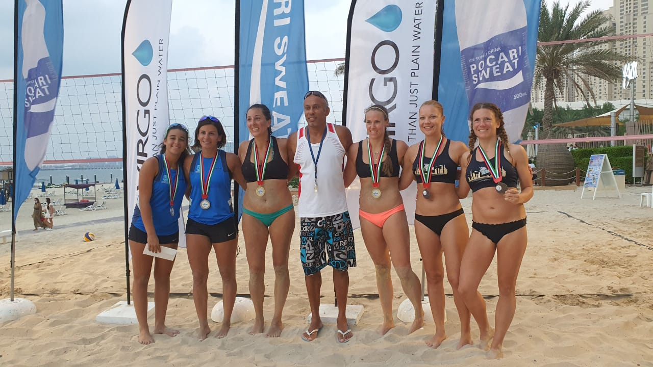 """Mervat Hamza and Mirna Sheikho had finished second place in the friendly """"Jumeira Beach Residence"""" tournament."""
