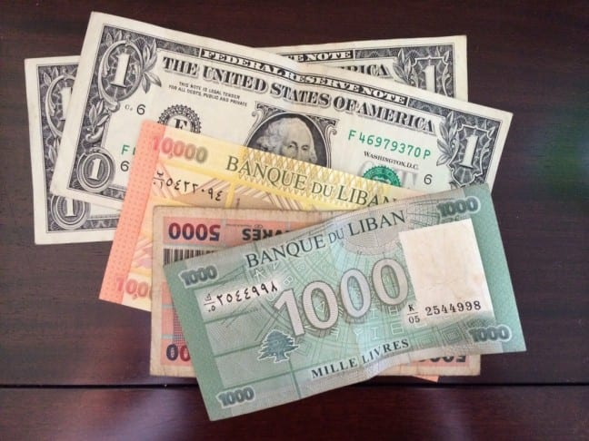 The Lebanese pound has been pegged to the U.S. dollar for over 2 decades.