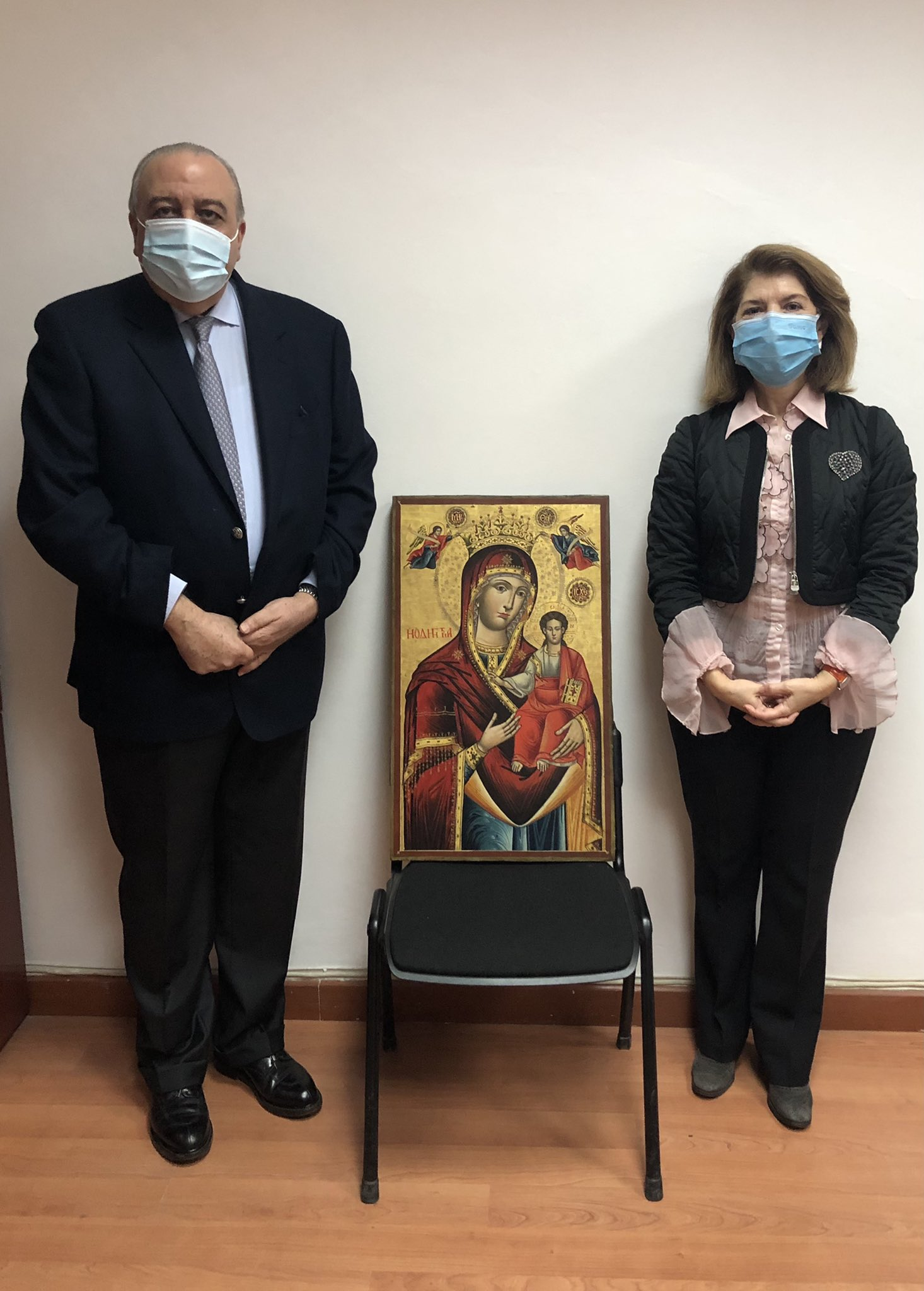 The icons returned by Lebanon were stolen from an exhibition in Athens in 2016.