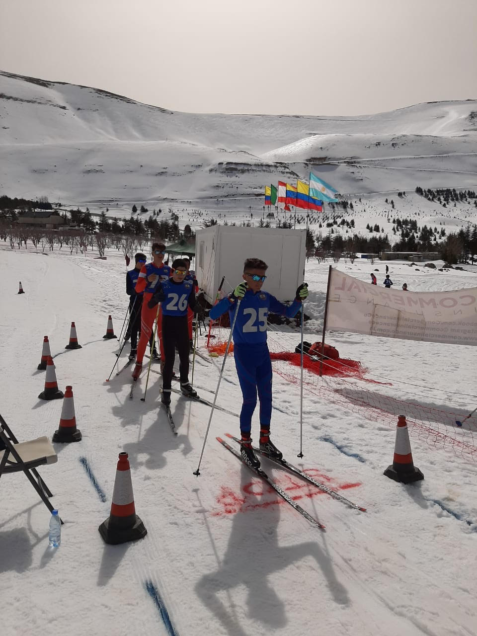 Lebanon has maintained its lead with 12 new medals on the second day of the international Small Evolving Ski (SES) Nations Cup.