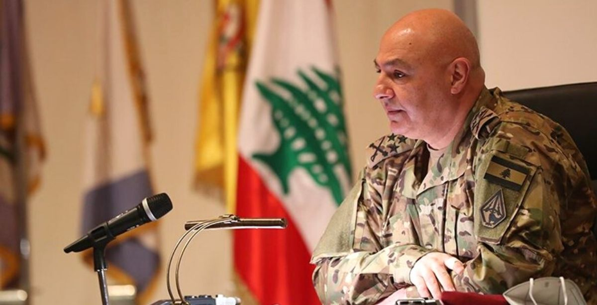 Lebanese army commander Joseph Aoun calls on Lebanese officials to take action to prevent further deterioration of the situation in Lebanon.
