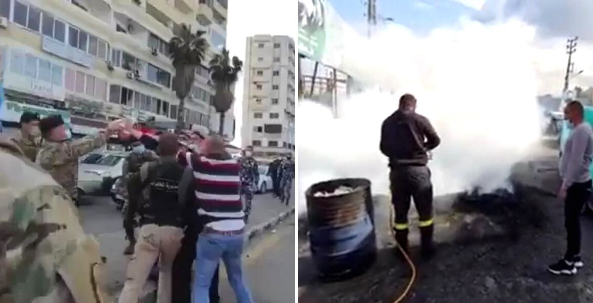 Man Tries To Set Himself On Fire During A Protest In Lebanon (Video)