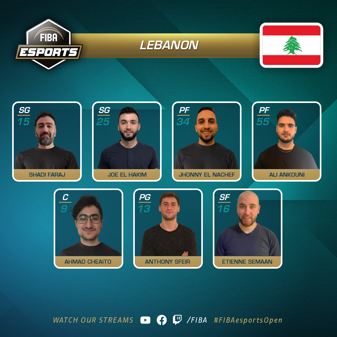 The Lebanese basketball team participating in the upcoming virtual championship.