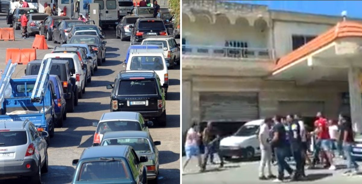 Clash & Gunfire Erupted At A Gas Station In Lebanon