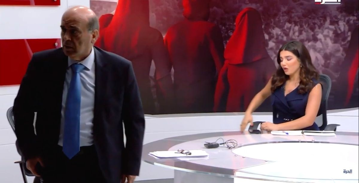 """Lebanon's FM Gets 'Offended' And Storms Off Live TV After Saudi Commentator Didn't Say """"President"""" Michel Aoun (Video)"""