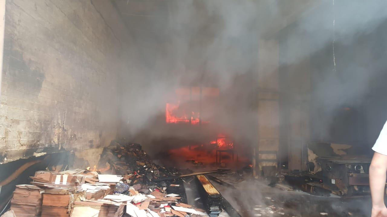 A large fire broke out in a carpenter's shop in Lebanon on Thursday morning.