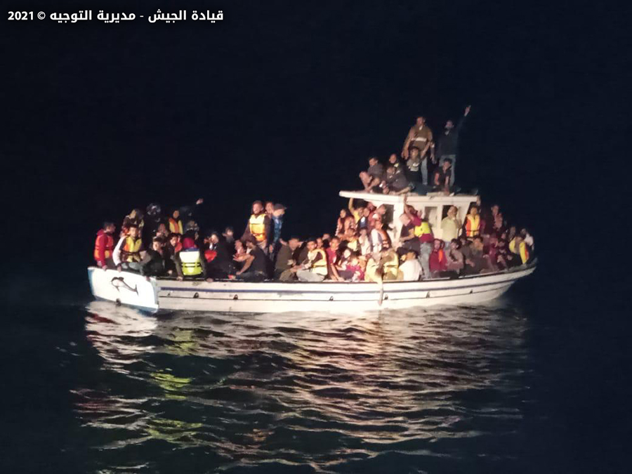 A patrol of the Lebanese Navy managed to foil an attempt to smuggle 125 Syrians by sea, the Army said in a statement on Thursday.