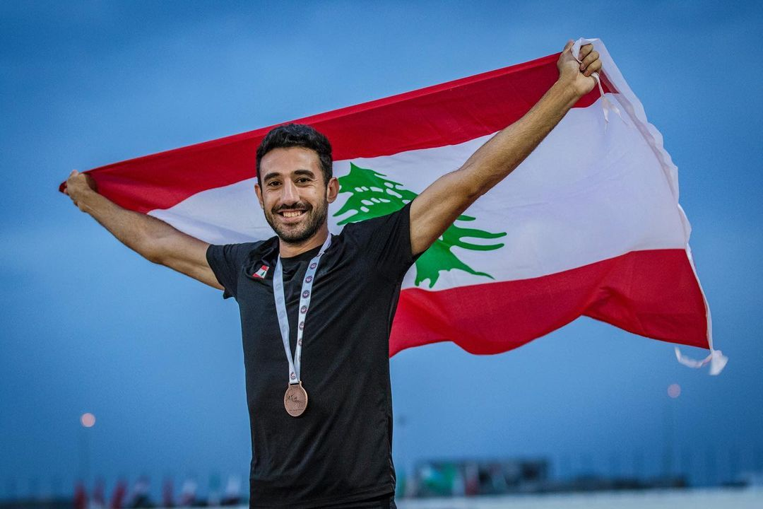 Lebanon's fastest man, Noureddine Hadid, holds the national records in 60-meter, 200-meter, and 400-meter indoor track and field.