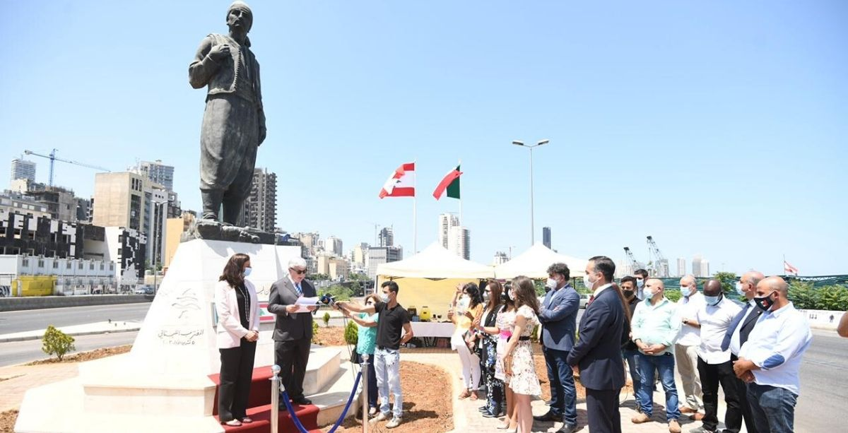 Mexican Embassy Celebrates Lebanese Diaspora & Renovation Of Immigrant Statue In Beirut