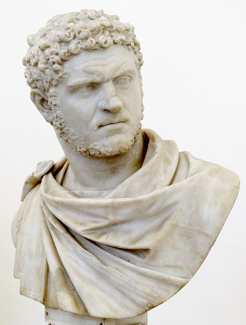 Formally known as Antoninus, Caracalla was Rome's co-emperor from 198 to 217. He co-ruled with his father, Septimius Severus, and continued to rule alongside his younger brother Geta after their father's death.