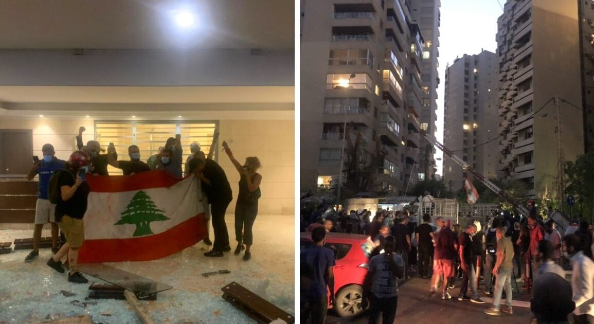 Families Of Beirut Blast Victims & Protesters Storm Interior Minister's Residence (Video) *Tap the link in @The961 bio for the full story! #The961 #Lebanon