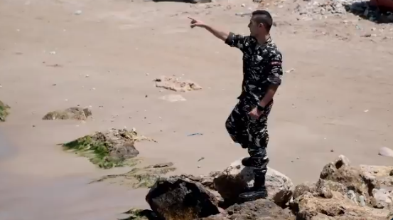A Lebanese policeman has shared a personal experience in which he saved a family from drowning, risking his own life in the process.