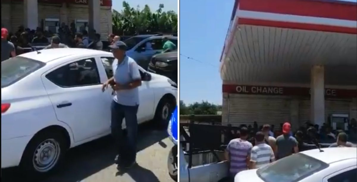 (Video) People Force Tyre Gas Stations Hiding Thousands Of Liters Of Fuel To Open
