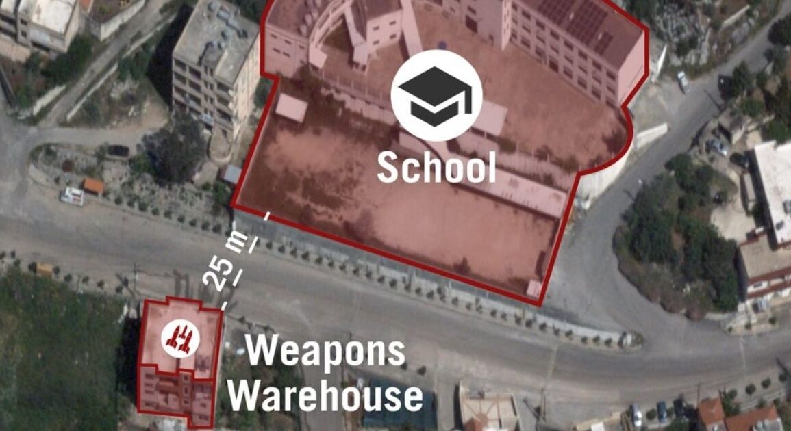 Israel Reveals Alleged Hezbollah Weapons Warehouse Next To A School In Lebanon *Tap the link in @The961 bio for the full story! #The961 #Lebanon