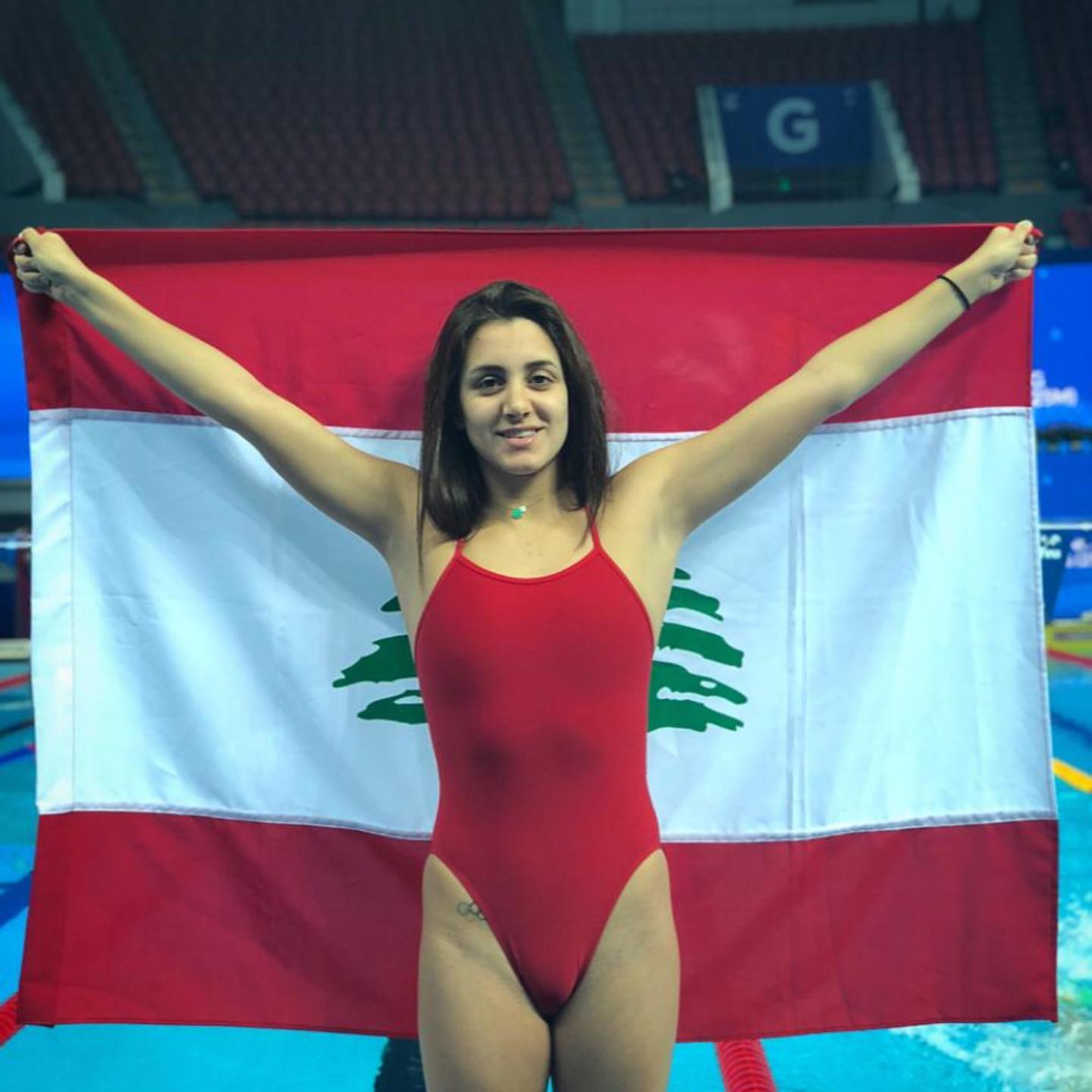 This is the second time Gabriella Doueihy has qualified to represent Lebanon at the Olympic Games.