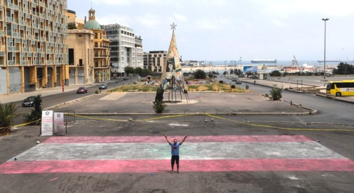 Lebanese Artist Attempts To Break Record With World's Largest Chalk Flag *Tap the link in @The961 bio for the full story! #The961 #Lebanon