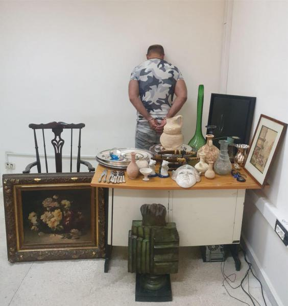 Lebanese security forces have arrested an individual who stole antiques worth about $100,000 in Lebanon.
