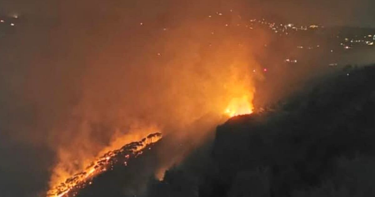A Huge Fire Broke Out In The Bisri Valley in Lebanon Last Night