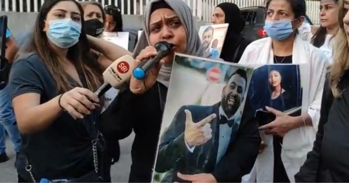 mothers of beirut explosion victims protest