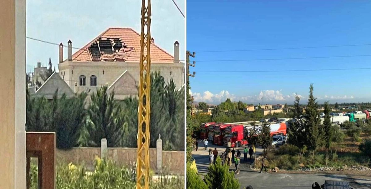 Hezbollah Destroyed Someone's House After Shooting RPGs To Celebrate Fuel From Syria