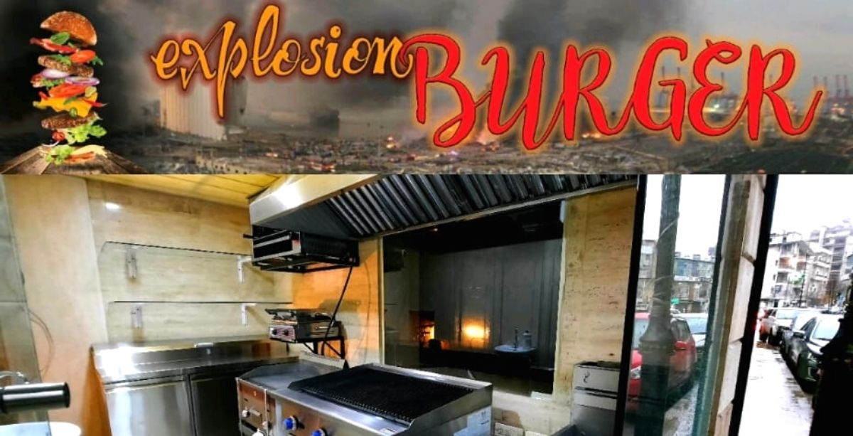 """There's A Restaurant Called """"Explosion Burger"""" Naming Items After The Beirut Port Blast"""