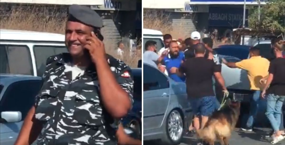 Video Of Lebanese Policeman Walking Away From Street Fight Goes Viral