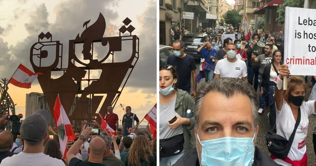 Marches In Lebanon Mark The 2nd Anniversary Of The Lebanese Revolution *Tap the link in @The961 bio for the full story! #The961 #Lebanon